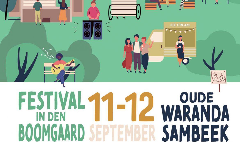 Poster Festival in den Boomgaard